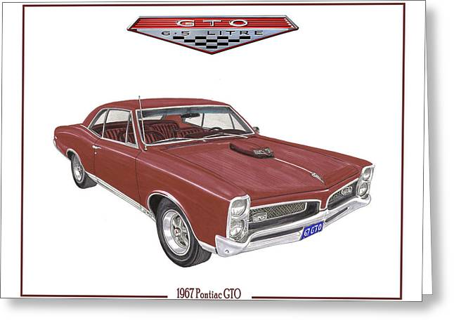 Art Of Muscle Greeting Cards - 1967 G T O Pontiac Greeting Card by Jack Pumphrey