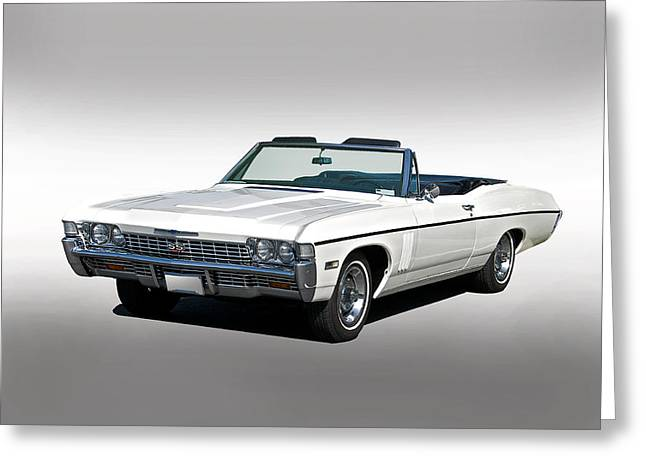 American Automobiles Greeting Cards - 1967 Impala SS427 Convertible Greeting Card by Dave Koontz