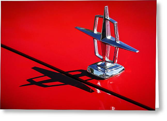 Famous Photographers Greeting Cards - 1967 Lincoln Continental Hood Ornament -1204c Greeting Card by Jill Reger