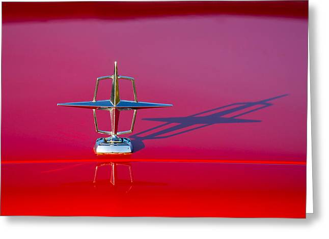 Jill Reger Photography Greeting Cards - 1967 Lincoln Continental Hood Ornament -158c Greeting Card by Jill Reger