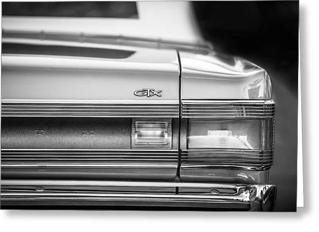 1967 Plymouth Belvedere Gtx Taillight Emblem -0963bw Greeting Card by Jill Reger