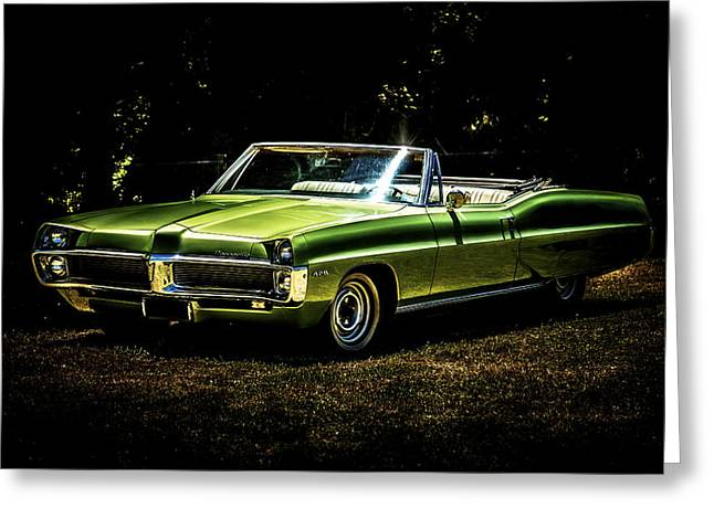 Phil Motography Clark Greeting Cards - 1967 Pontiac Bonneville Greeting Card by motography aka Phil Clark