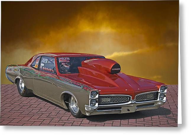 American Automobiles Greeting Cards - 1967 Pontiac GTO Greeting Card by Dave Koontz
