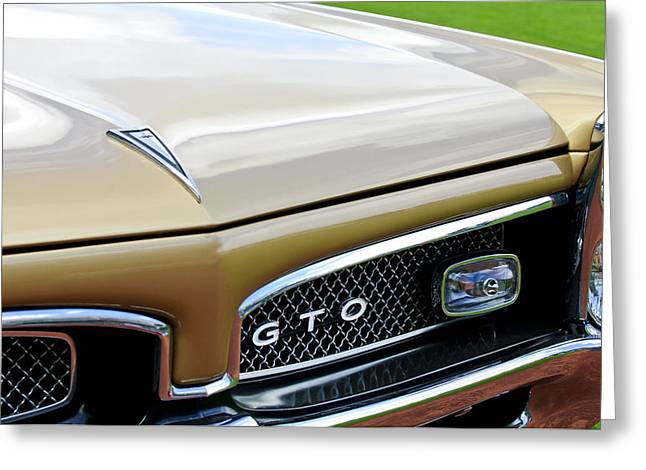 1967 Greeting Cards - 1967 Pontiac GTO Grille Emblem 2 Greeting Card by Jill Reger