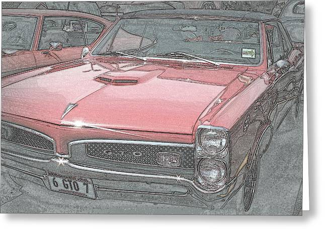 1967 Pontiac Gto Greeting Card by Kay Novy