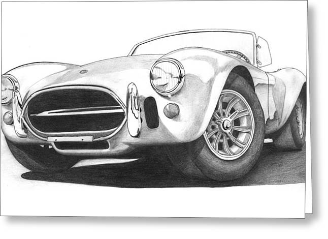 Carroll Shelby Drawings Greeting Cards - 1967 Shelby Cobra 427 Roadster Greeting Card by Nick Toth