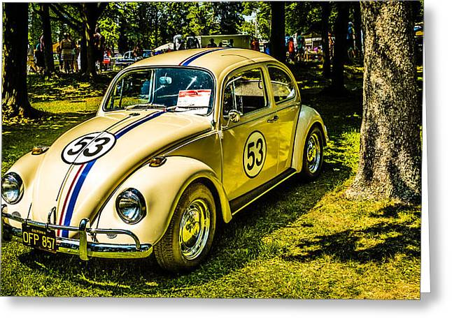 Beetle Car Interior Greeting Cards - 1967 Volkswagen Beetle Greeting Card by  Carlos Cano
