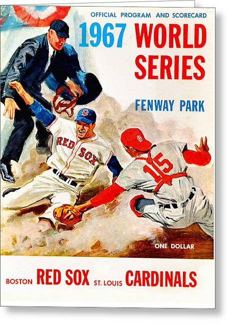 1967 World Series Program Greeting Card by Big 88 Artworks
