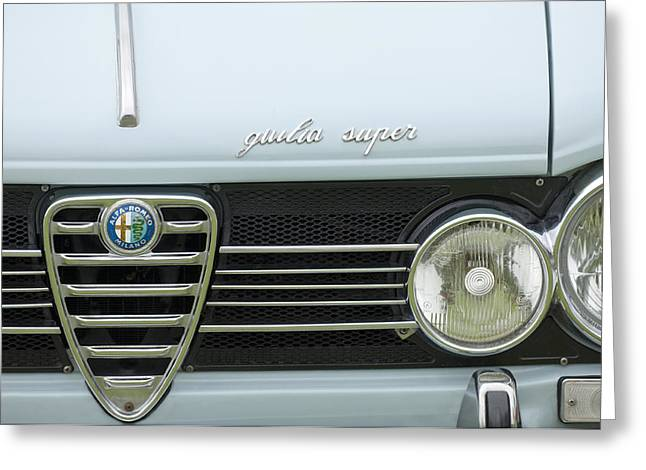 1968 Alfa Romeo Giulia Super Grille Greeting Card by Jill Reger