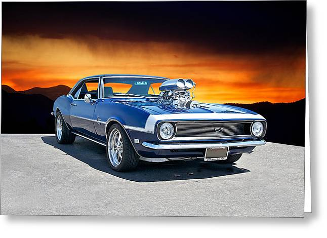 American Automobiles Greeting Cards - 1968 Camaro SS Blown 383 Greeting Card by Dave Koontz