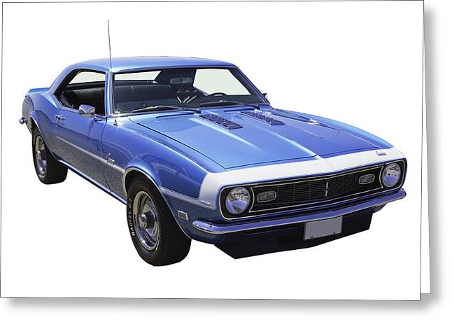 American Automobiles Greeting Cards - 1968 Chevrolet Camaro 327 Muscle Car Greeting Card by Keith Webber Jr