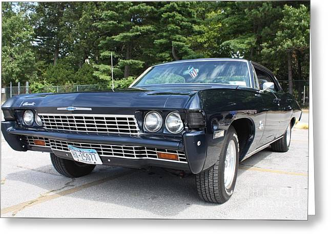 Owner Greeting Cards - 1968 Chevrolet Impala Sedan Greeting Card by John Telfer