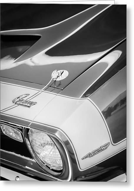 1968 Camaro Greeting Cards - 1968 Chevrolet Yenko Super Camaro Emblem -0653bw Greeting Card by Jill Reger