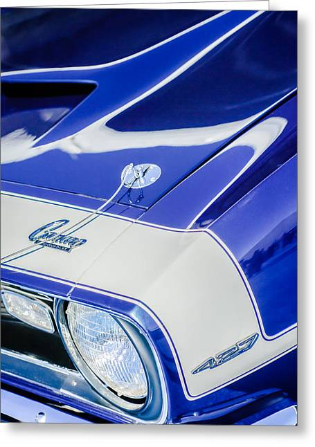 1968 Camaro Greeting Cards - 1968 Chevrolet Yenko Super Camaro Emblem -0653c Greeting Card by Jill Reger