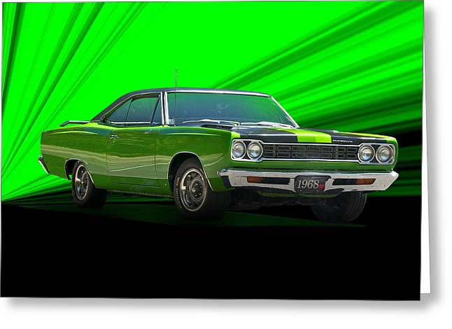 American Automobiles Greeting Cards - 1968 Plymouth Road Runner Greeting Card by Dave Koontz