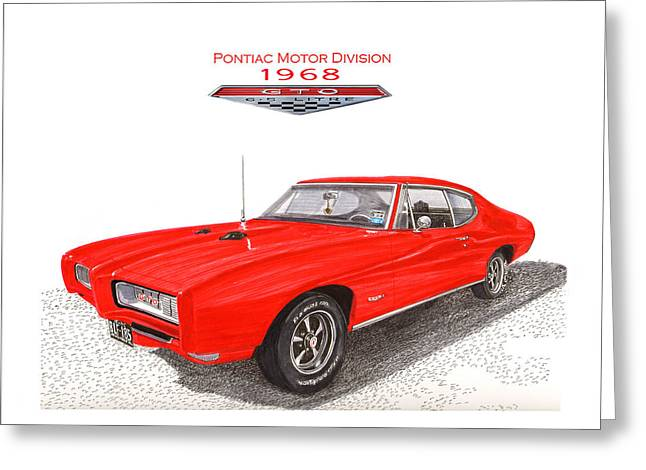 Art Of Muscle Greeting Cards - 1968 Pontiac G T O  Greeting Card by Jack Pumphrey