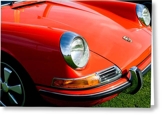 Front End Greeting Cards - 1968 Porsche 911 Front End Greeting Card by Jill Reger