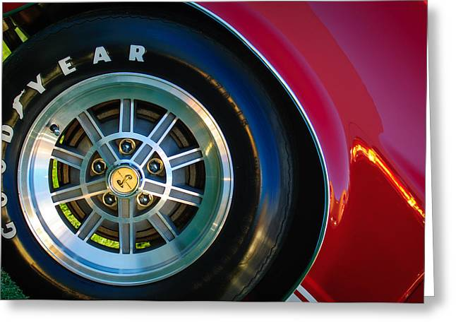 1968 Shelby Gt500 Kr Fastback Wheel Emblem -1112c Greeting Card by Jill Reger