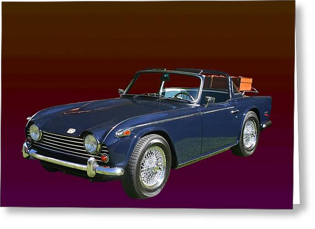 Desirable Greeting Cards - 1968 Triumph T R 5  P1 Greeting Card by Jack Pumphrey