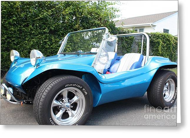 Wrapped Around Greeting Cards - 1968 Volkswagon Dune Buggy Convertible Greeting Card by John Telfer