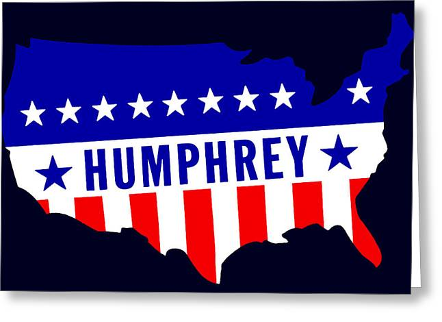 Voted Images Greeting Cards - 1968 Vote Humphrey for President Greeting Card by Historic Image