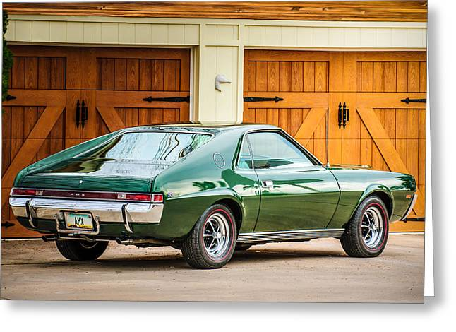 Famous Photographers Greeting Cards - 1969 AMC AMX -0100c Greeting Card by Jill Reger