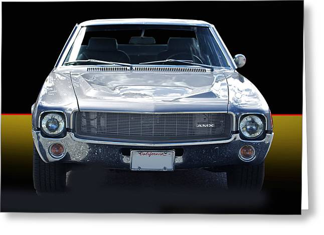 American Automobiles Greeting Cards - 1969 Amx I Greeting Card by Dave Koontz