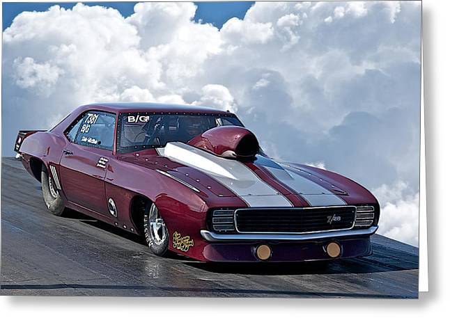 American Automobiles Greeting Cards - 1969 Camaro Z28 Greeting Card by Dave Koontz