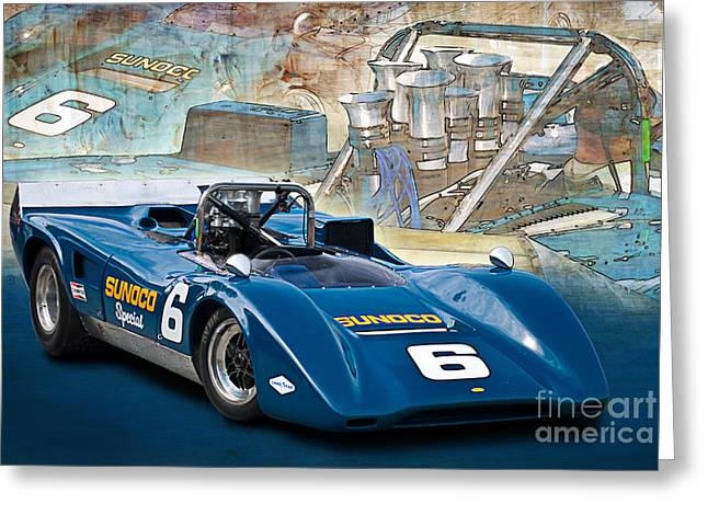 1969 Can-am Lola T163 Greeting Card by Stuart Row