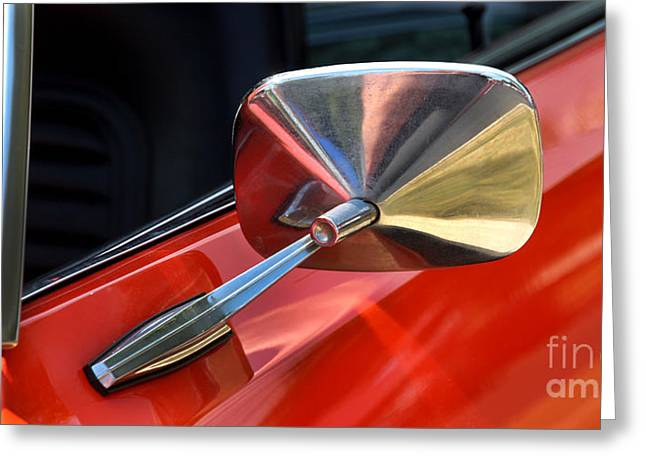 Rally Greeting Cards - 1969 Chevrolet Camaro RS - Orange - Side Mirror - 7588 Greeting Card by Gary Gingrich Galleries