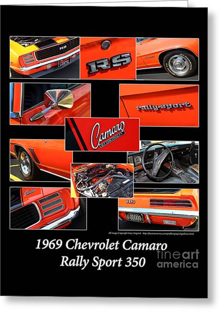 Rally Greeting Cards - 1969 Chevrolet Camaro RS-Orange Greeting Card by Gary Gingrich Galleries