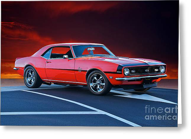 Rally Greeting Cards - 1969 Chevrolet Camaro SS 396 Greeting Card by Dave Koontz