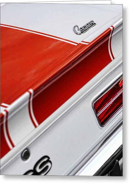 1969 Chevrolet Camaro Ss Indianapolis 500 Pace Car Rear Shot Greeting Card by Gordon Dean II