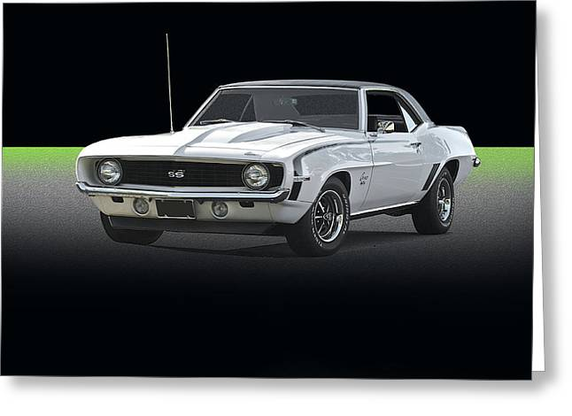 American Automobiles Greeting Cards - 1969 Chevrolet Camaro SS350 Greeting Card by Dave Koontz