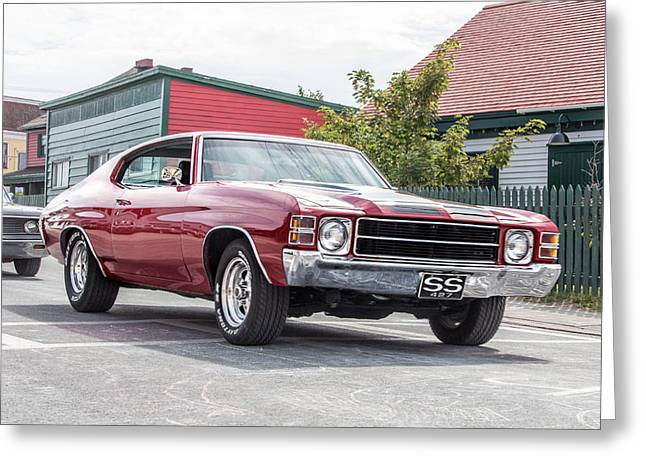 Subcompact Greeting Cards - 1969 Chevrolet Chevelle SS Greeting Card by Crystal Fudge