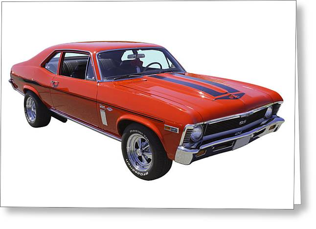 Antique Digital Art Greeting Cards - 1969 Chevrolet Nova Yenko 427 Muscle Car Greeting Card by Keith Webber Jr