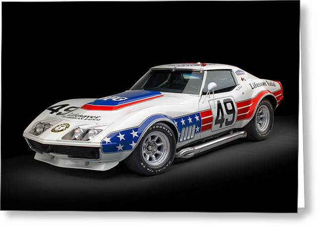 1969 Chevrolet Stars And Stripes L88 Zl-1 Corvette Greeting Card by Gianfranco Weiss