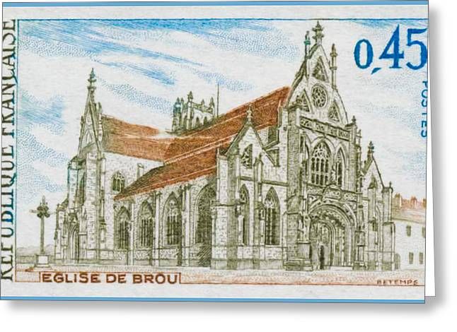 Bresse Greeting Cards - 1969 Church Of Brou Greeting Card by Lanjee Chee