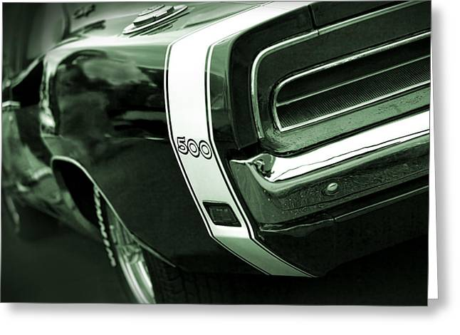 Dodge Super Bee Emblem Greeting Cards - 1969 Dodge Charger 500 Greeting Card by Gordon Dean II