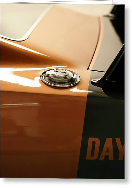 Battery Pack Greeting Cards - 1969 Dodge Charger Daytona - Fuel Day Greeting Card by Gordon Dean II