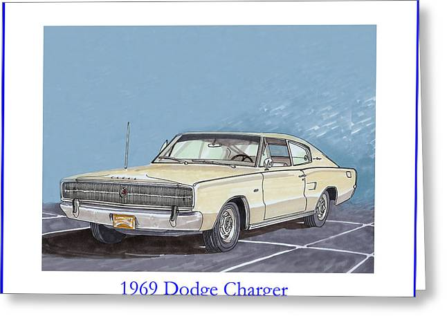 Considering Greeting Cards - 1969 Dodge Charger Greeting Card by Jack Pumphrey