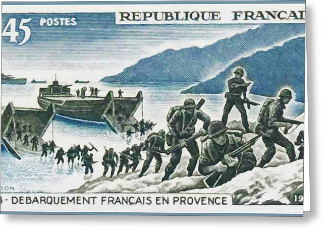 Liberation Greeting Cards - 1969 French Landing In Provence Greeting Card by Lanjee Chee