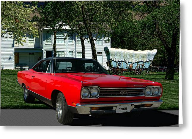 1969 Plymouth Gtx 440 Magnum Greeting Card by Tim McCullough