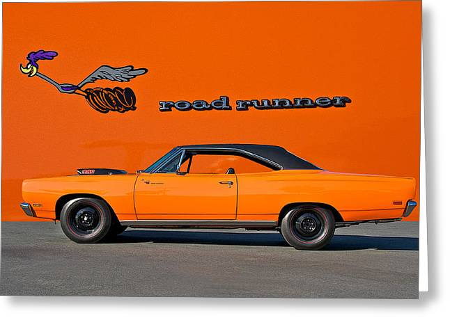 Rally Greeting Cards - 1969 Plymouth Road Runner Greeting Card by Dave Koontz