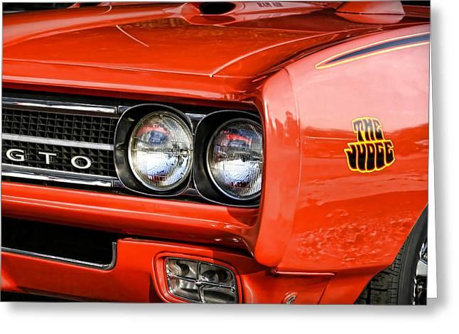 Dragway Greeting Cards - 1969 Pontiac GTO The Judge Greeting Card by Gordon Dean II