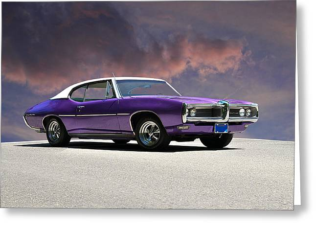Family Car Greeting Cards - 1969 Pontiac LeMans Greeting Card by Dave Koontz
