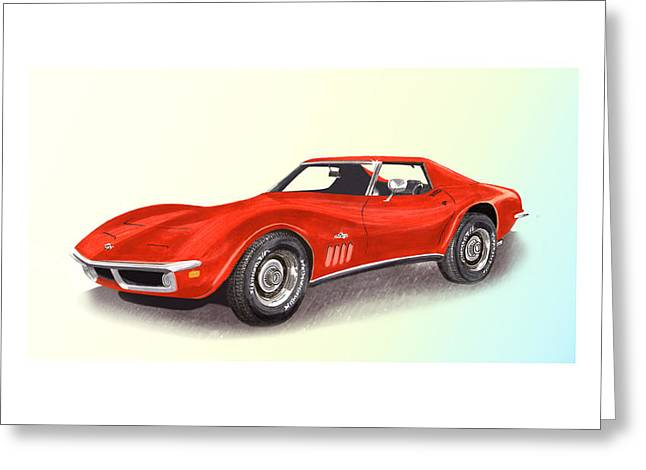 Bitchin Greeting Cards - 1969 Stingray by Corvette Greeting Card by Jack Pumphrey