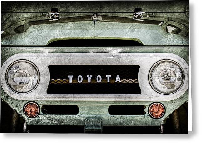1969 Toyota Fj-40 Land Cruiser Grille Emblem -0444ac Greeting Card by Jill Reger