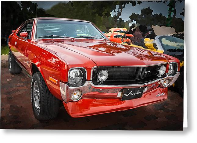 American Motors Corporation Greeting Cards - 1970 AMC Javelin 401  Greeting Card by Rich Franco