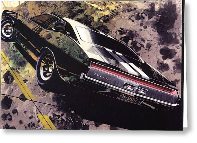 Automotive History Greeting Cards - 1970 BARRACUDA Plymouth vintage styling design concept sketch Frank Kendrickson Greeting Card by ArtFindsUSA